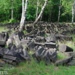 Gravestones awaiting restoration, Brodno Jewish cemetery, Warsaw. Photo: Virtual Shtetl/Sebastian Domżalski