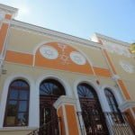 Exterior of restored synaggoue in Tulcea, Romania. Photo: Federation of Romanian Jewish Communities