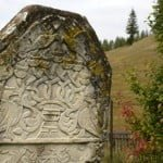 Carved stone in Jewish cemetery in Gura Humorului, romania. Photo © Ruth Ellen Gruber