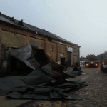 Roof damage at the Riga Ghetto Museum. Photo: Riga Ghetto Museum
