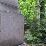 Kerepesi Jewish cemetery -- a rare example of anti-semitic graffiti. The real problem is the neglect...