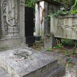 Kerepesi Jewish cemetery. Tomb of the poet Jozsef Kiss
