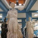The former synagogue in Tata, Hungary is a museum devoted to copies of ancient Greek and Roman scuptures