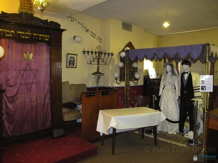 Dublin, Ireland -- a Hanukkah menorah in the Jewish museum, located in a former synagogue.