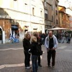 In the Rome ghetto today -- a zone of tourism, restaurants, etc