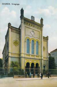 Zagreb synagogue in  postcard from 1906