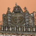 Menorah in the collection of the Jewish Heritage of Moldova.