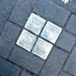 Stolperstein (stumbling stone) Holocaust memorial in Hamburg, Germany
