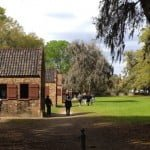 Slave cabins as tourist sites at Boone Hall planation