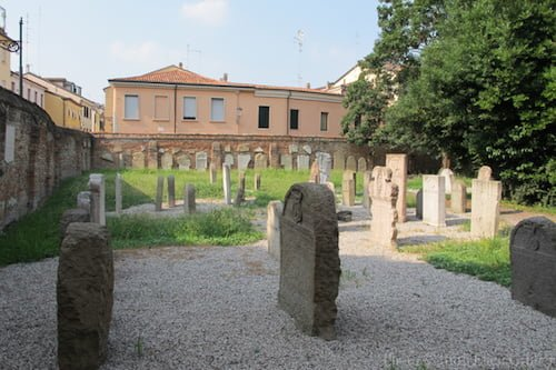 Jewish cemetery on via Wiel, Padova, founded in 1529