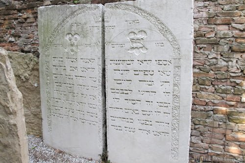 Gravestone of Anselmo Del Banco (Asher Meshullam) d. 1532