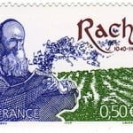 Rashi on a French postage stamp. (Courtesy of the Leiman Library)