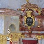 Bimah and ark in the synagogue in Mikulov, Czech Republic, part of the 10 Stars project