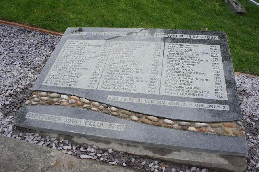 New memorial at restored Jewish enclosure of Glasgow's Necropolis cemetery commemorating the 57 burials there Photo: curtesy Andrew Syme Associates