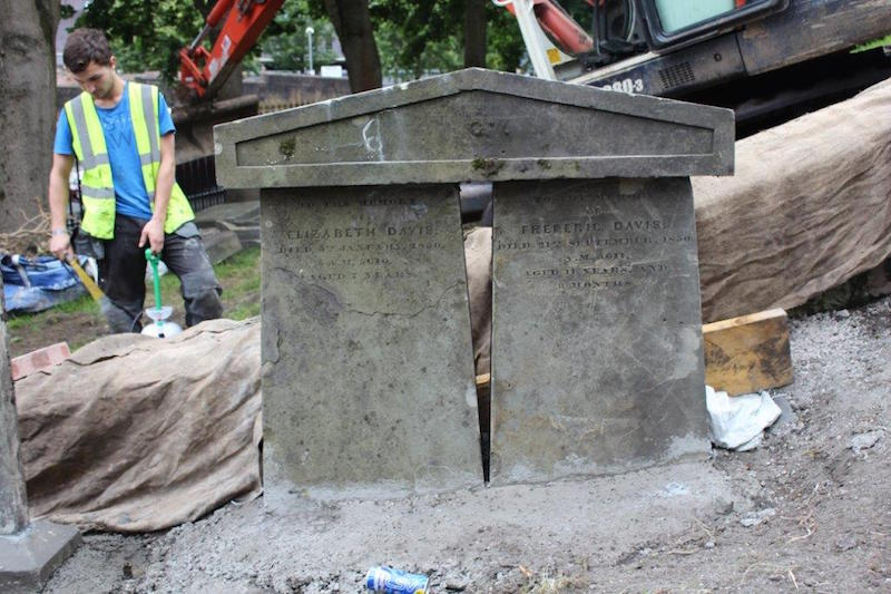 Scene during restoration work at Glasgow's Necropolis cemetery. Photo: courtesy Andrew Syme Associates