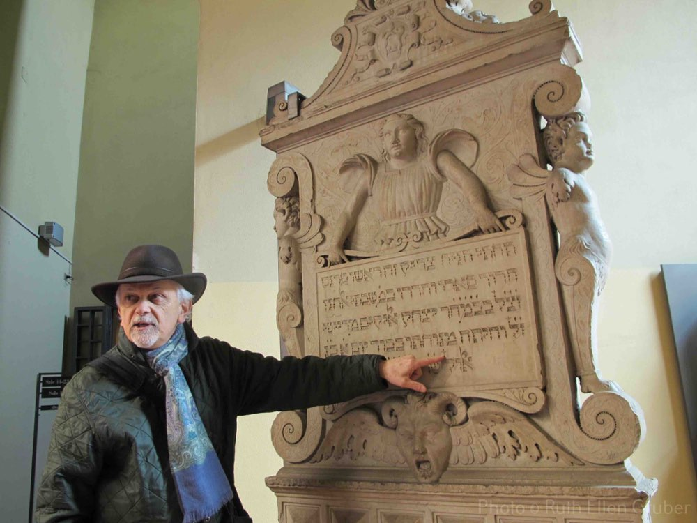 Italian scholar Mauro Perani, a specialist in Jewish epigraphy, discusses the tombstone of Shabatai Elkanan of Rieti