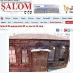 Screen grab from the Jewish news site Shalom showing Istipol synagogue