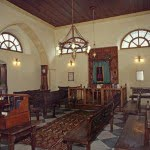 Interior of the Etz Hayyim Synagogue, Chania, Crete. Photo: World Monuments Fund