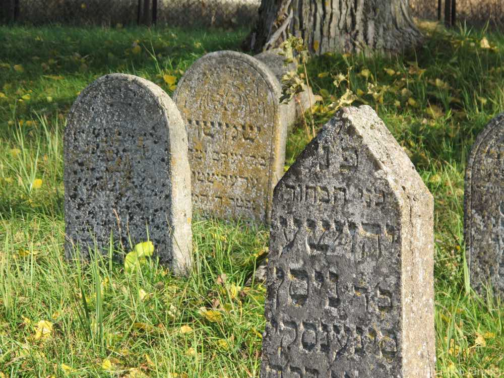 In the Jewish cemetery, Kalvaria, Lithuania