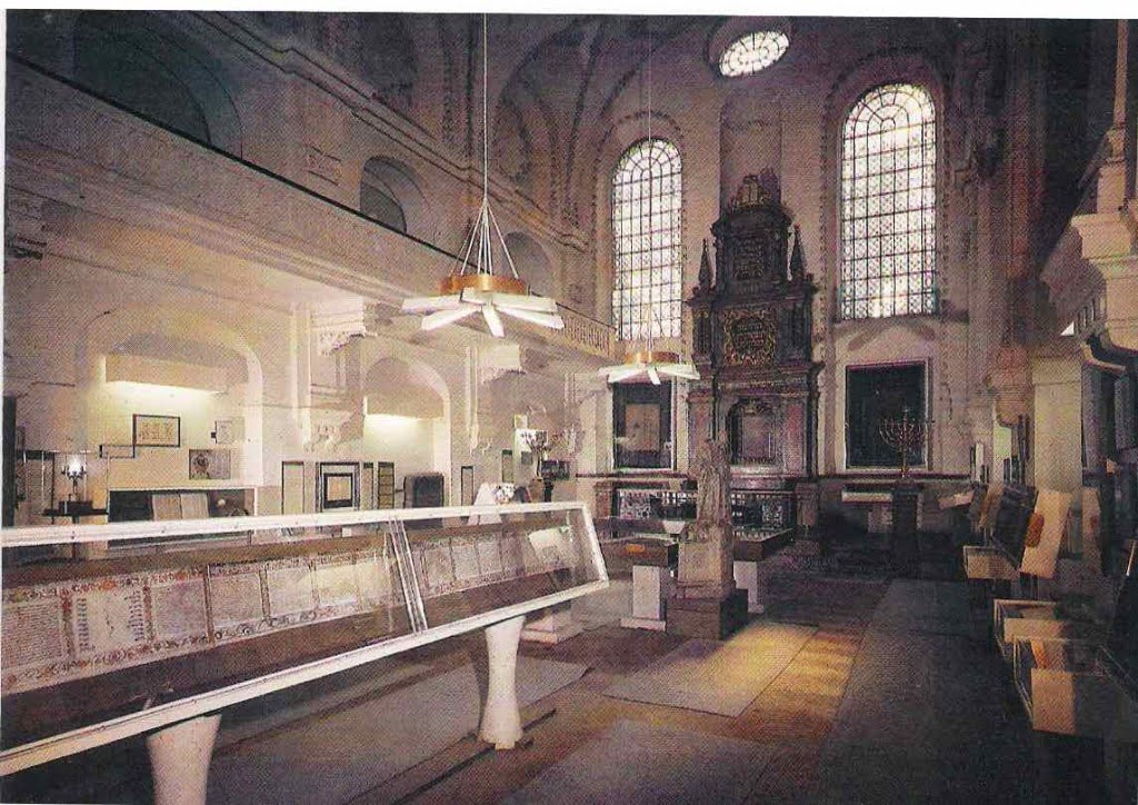 A Communist-era postcard of the Klausen synagogue in Prague, part of the then-State-run Jewish Museum