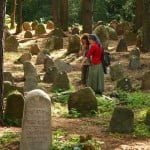 Students in the Jewish cemetery, Beshenkovichi, Belarus. Photo courtesy of the Sefer Center