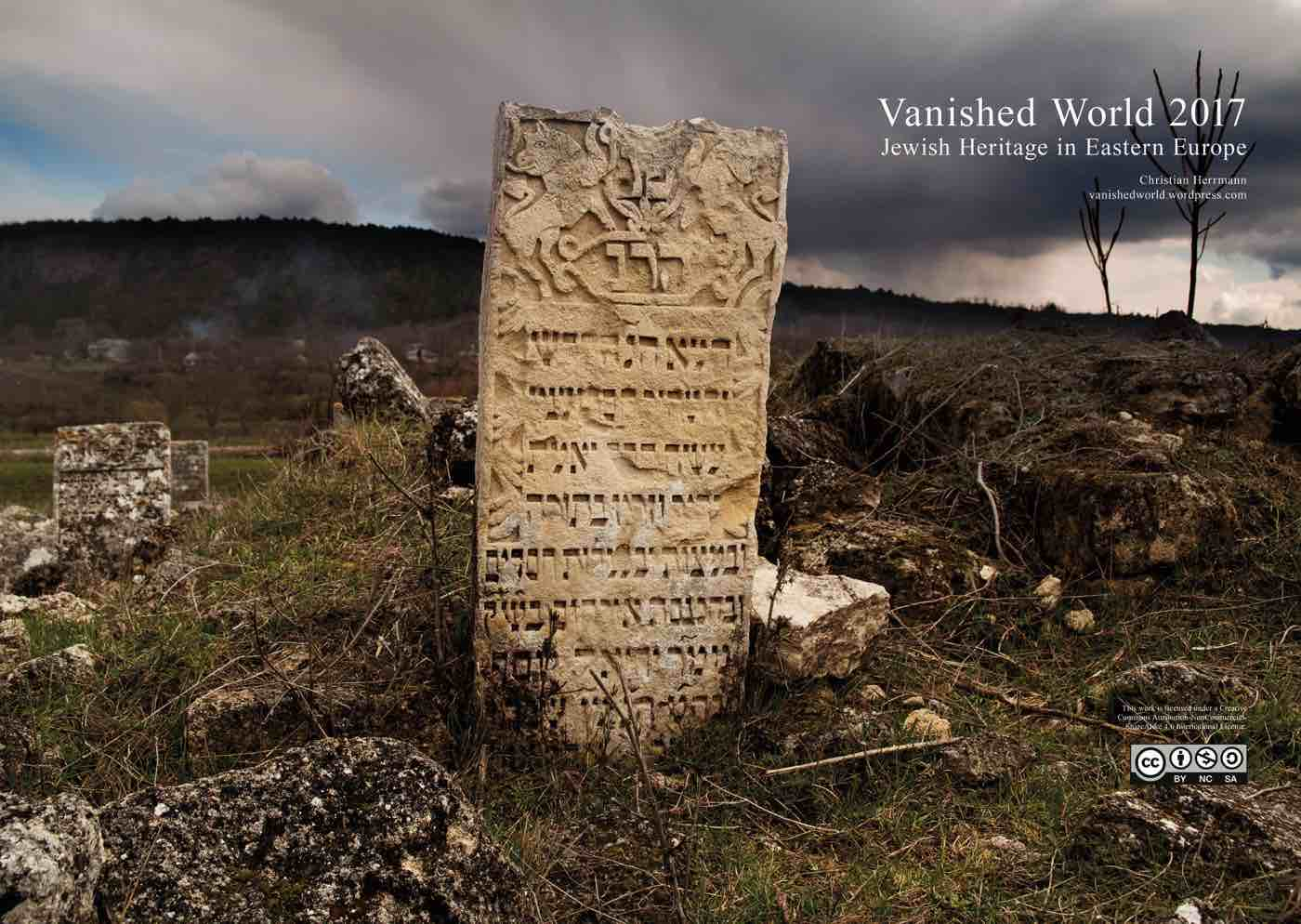 Cover of Christian Herrmann's 2017 calendar shows the Jewish cemetery in Vadul Rascov, Moldova