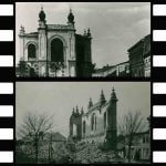 Archival photos of the Holesov New Synagogue and its destruction. From the Holesov Museum.
