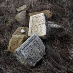 Fragments of matzevot from Jewish cemetery in Husiatyn. Photo: Dmitry Polyukhovich/Focus
