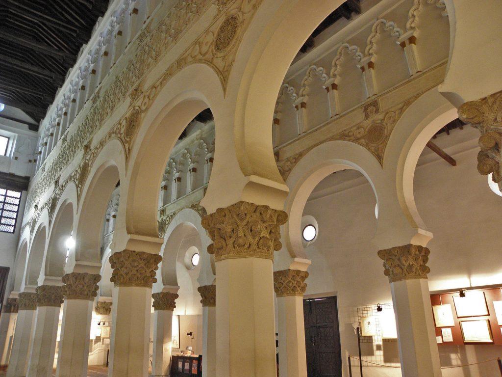 Synagogue Santa Maria la Blanca in Toledo, via wikimedia